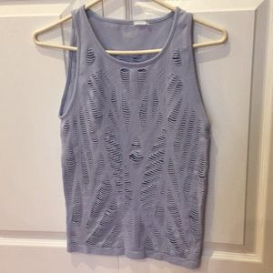 Alo Vixen muscle tank top fitted M pale blue med
